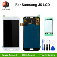 Hot Truth 100 Tested Super Amoled For Samsung Galaxy J5 2015 J500F LCD Display Touch Screen