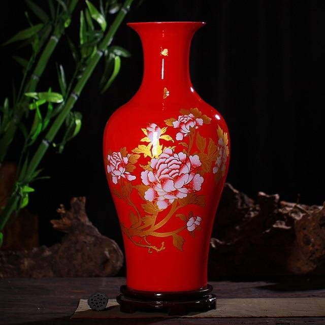 aliexpress.com : china jingdezhen keramik rote boden große vase ... - Grose Vasen Fur Wohnzimmer