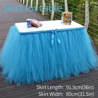 טול טוטו חצאית שולחן עם Bowknot רצועה לחתונה קישוט מסיבת מקלחת תינוק חצאיות שולחן חתונה עקף טקסטיל לבית