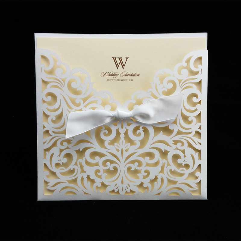 Online Get Cheap Wedding Invitation Laser Cut Ribbon Aliexpress