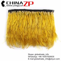 CHINAZP 10yards/lot 5cm in Width Selected Prime Quality Natural Yellow Golden Pheasant Plumage Feathers Trim