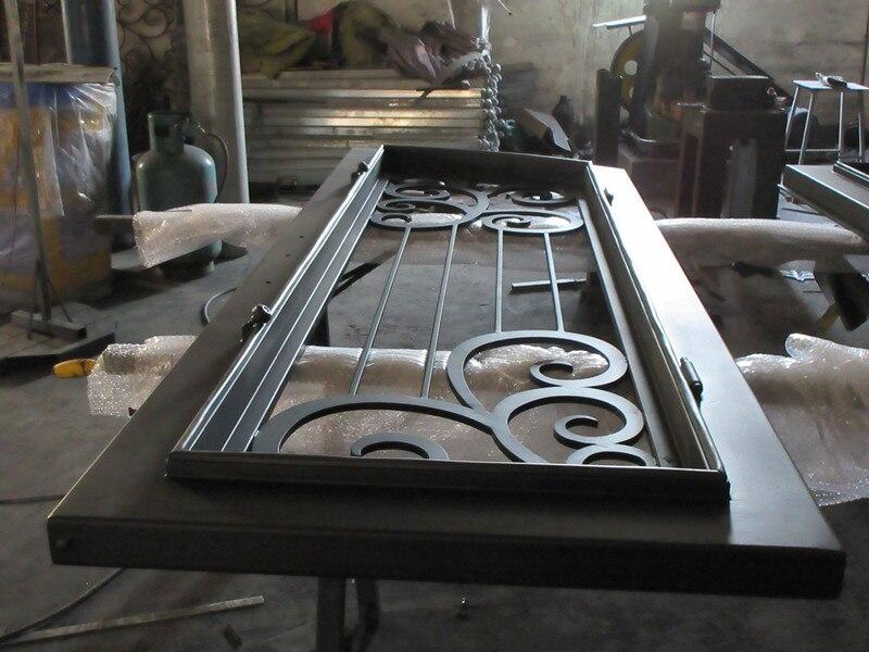 Custom made biggest jamb&door top quality wrought iron doors hench-id6