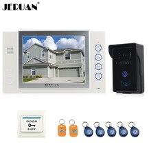 "JERUAN 8"" LCD screen video door phone doorbell intercom system access control system recoreding outdoor waterproof  8GB TF card"