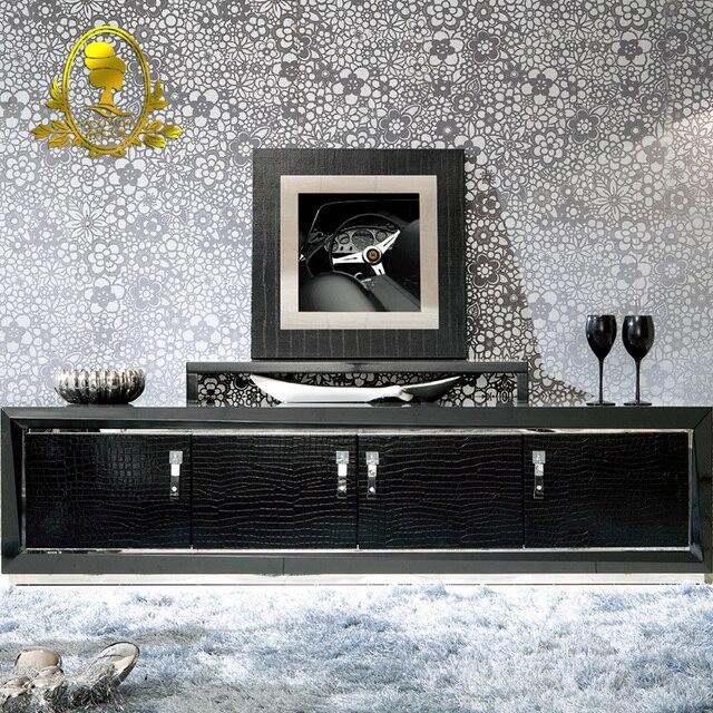 Moderno erba pittura di colore nero soggiorno mobile supporto da ...