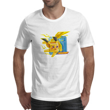 Thunder Pikachu T Shirt Video Game Anime Brand Punk Skate T-shirt Rock Print Fashion Unisex Tee велосипед rock machine thunder 70 2013