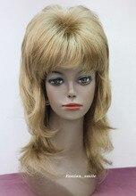 Women's cospay women's Hair full wigs Wholesale& heat resistant LY free shipping>>>Fashion Stylish Golden Blonde Medium Long Lev