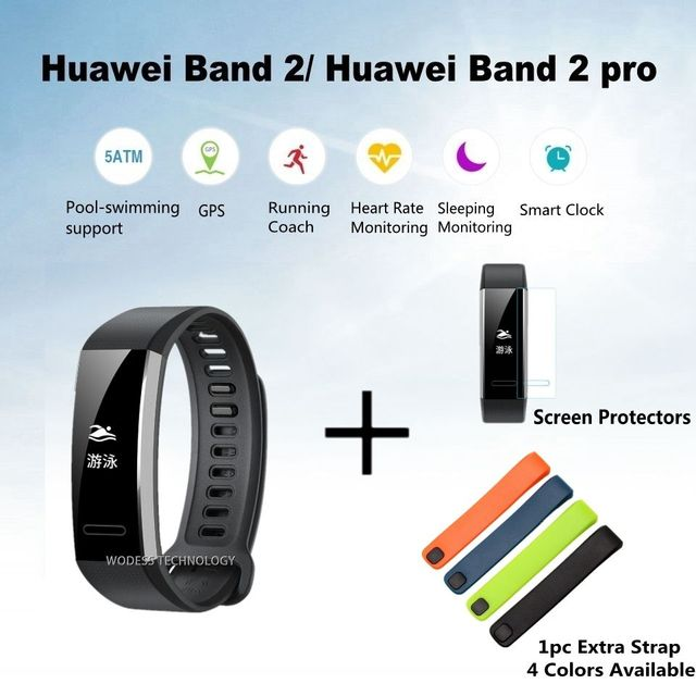 Original Huawei Band 2 pro B29 B19 with GPS for Swimming Wristband with  Heart Rate Monitoring d21940abc6d