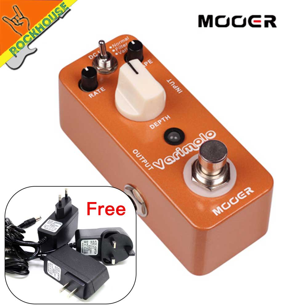 MOOER Varimolo Versatile Tremolo pedal Normal/ Sweeping Fitter sound/ Rhythmic Variations Tremolo Effects True Bypass new effect pedal mooer solo distortion pedal full metal shell true bypass