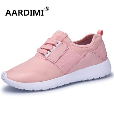 New arrival spring breathable lace up casual women shoes 5 colors fashion massage walking shoes woman top quality women trainers