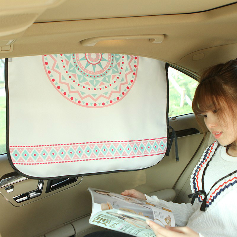 OHANEE cartoon Car window sunshade curtain Summer sunscreen