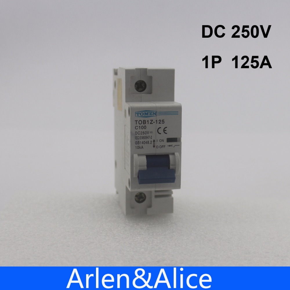 1P 125A DC 250V Circuit breaker FOR PV System C curve MCB
