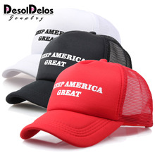 Cool New Donald Trump Red Hat Re-Election Keep America Great Spring Summer Baseball Mesh Caps Adjustable Sport