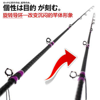 Lurekiller Slow jigging fishing rods 1.91M Spinning/Casting 40-150G PE 0.8-2.5 Spiral Fuji Guides light jigging rod test 12kgs