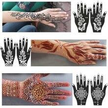 Индия хна нога трафареты body временные свадьбы рук наклейка шаблон рука