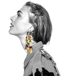 Vodeshanliwen New Brand Sequins Long Earrings Fashion Rhinestone Statement Jewelry Tassel Earrings for Women wedding Accessories