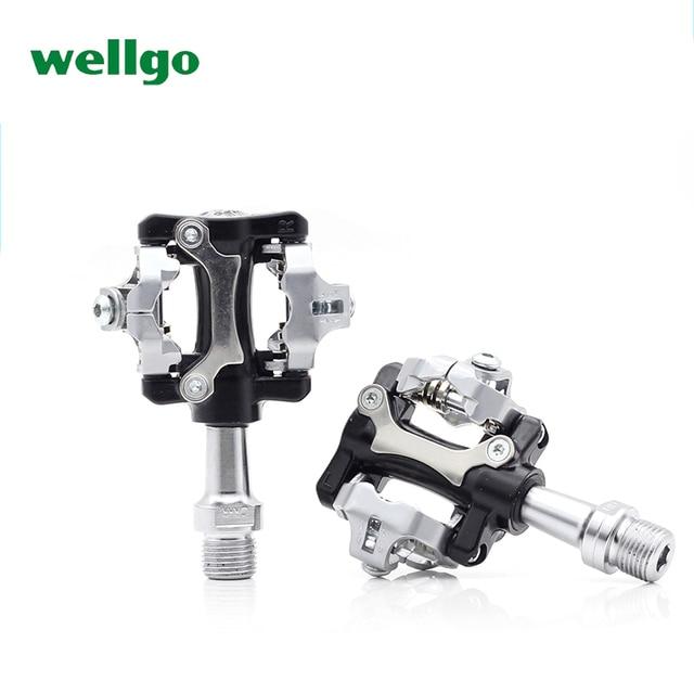 f33ee9d77d8 WELLGO W01 Aluminum Alloy MTB Bike Bicycle Clipless Light Pedals 9 16