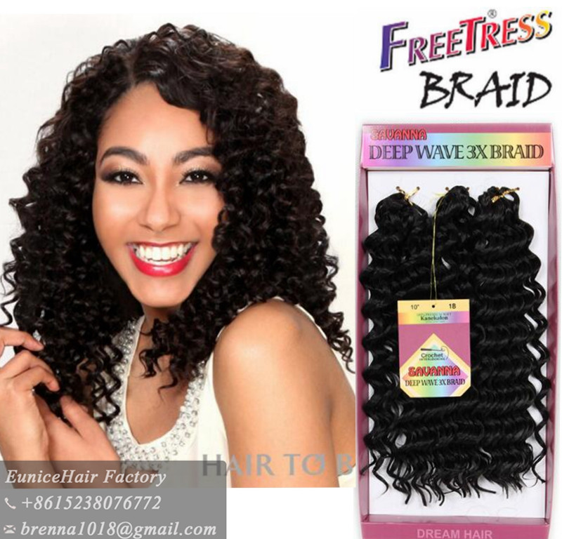 Crochet Braids Loose Hair : Freetress Deep Twist Tree Braids loose wave crochet braids havana ...
