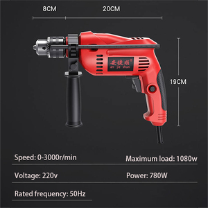 Image 2 - Electric hammer power tool multi function impact drill 220v household electric drill electric hammer dual use rotary tool