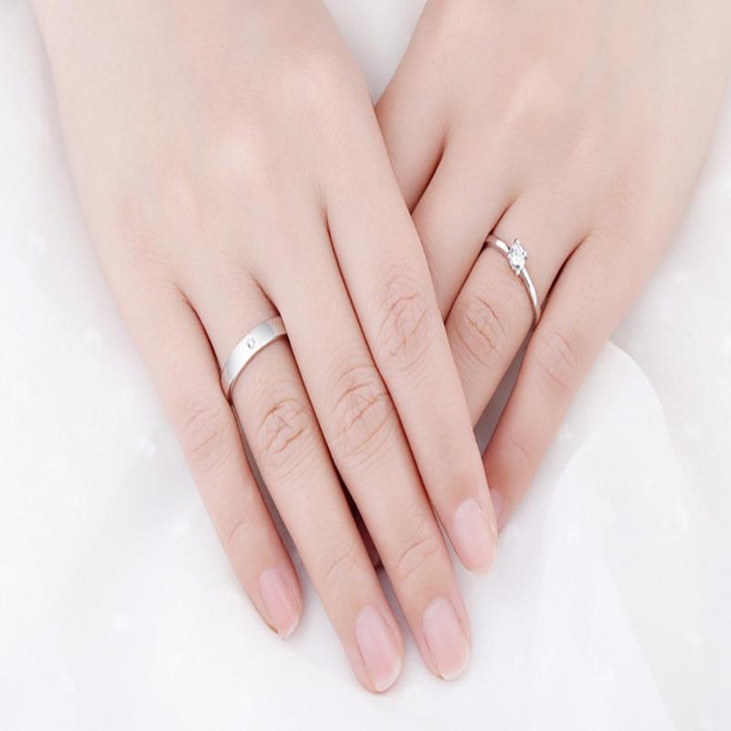 Qevila Fashion Jewelry Rings Romantic Engagement Wedding Rings Original Design Jewelry Cubic Zirconia Ring for Women Men Lover (7)