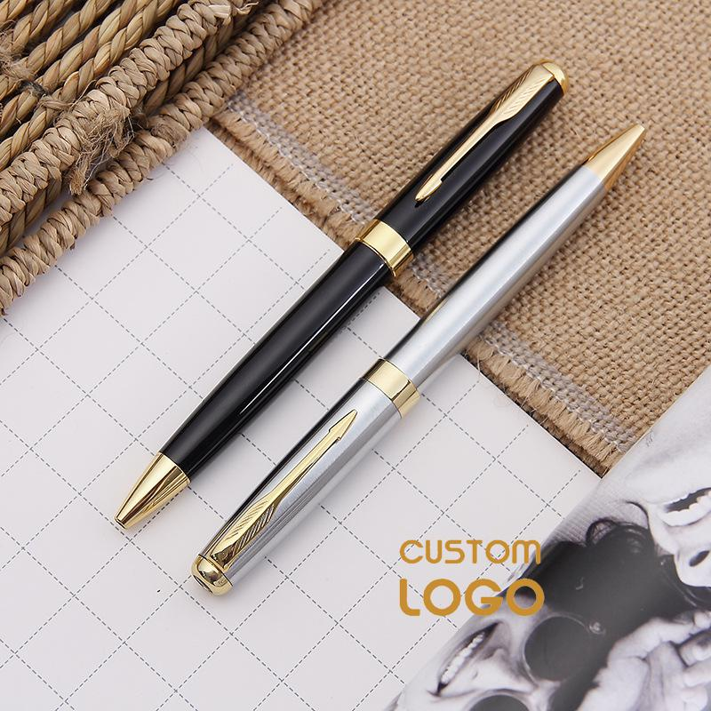 Personalized Customized Logo Pen Writing Metal Ballpoint Pen Engrave Logo Company Name School Office Supplies Accessories
