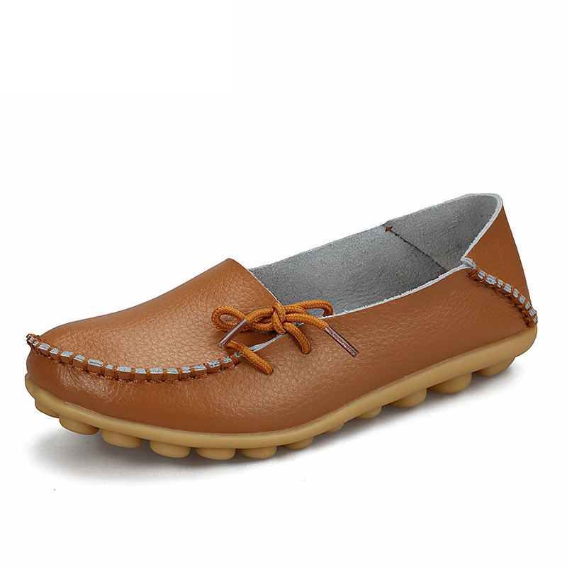 Soft Leisure Flats Women Leather Shoes Moccasins Mother Loafers Casual Female Driving Ballet Footwear 4