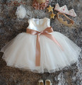 Bling Frisada Vestido Da Menina Flor vestido do batismo do Bebê recém-nascido vestido de batismo do bebê Vestido De Aniversário 1 Anos princesa com chapéu faixa