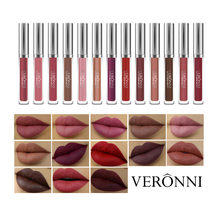 VERONNI Super Wasserdicht Lip Gloss Make-Up Ultra Samt Matte Nude Flüssigkeit Farbton Lippenstift Sexy Rouge Lip Stick Kosmetik 13 Farben(China)