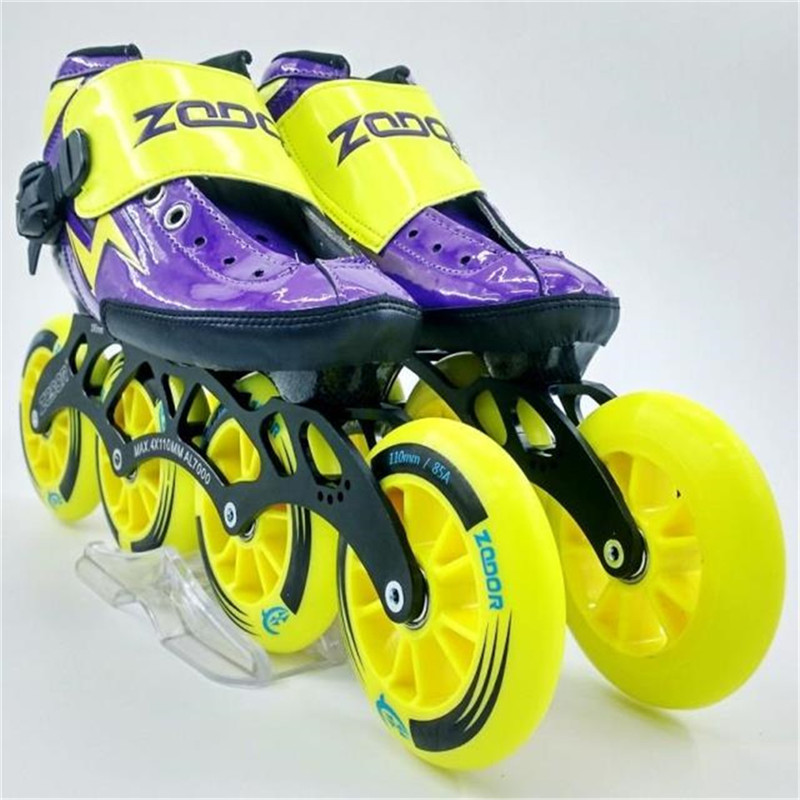 Worth Carbon Fiber Fiberglass Speed Inline Skates Purple Kid's Adult Competition Street Racing Sport Shoes Training Patines F009