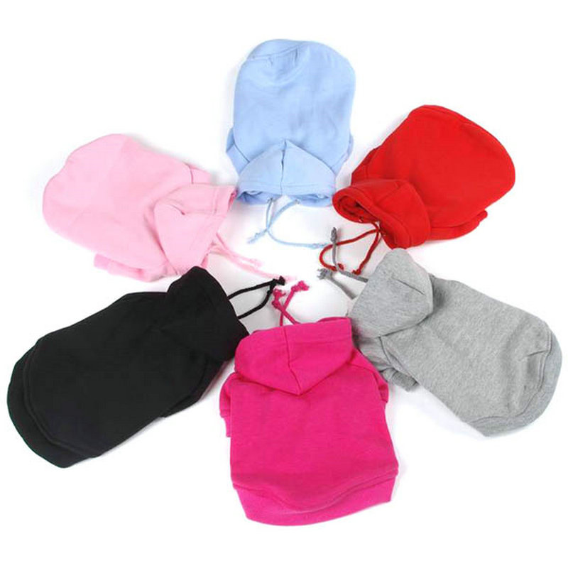 Pet Puppy Dog Clothes Coat Hoodie Sweater Costumes Dogs Jackets S M L XL XXL 7 Colors