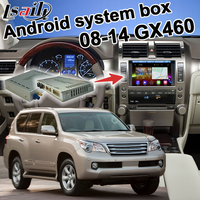 Android 6.0 GPS navigation box for 2010 2016 Lexus GX460