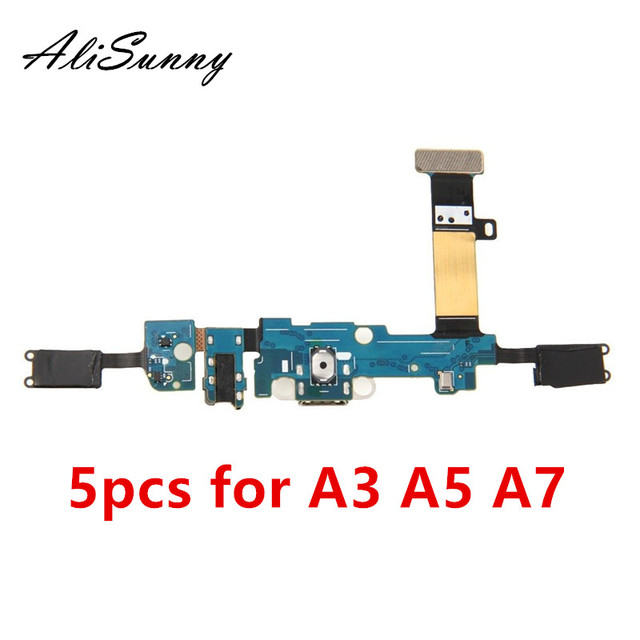 AliSunny 5pcs Charging Port Flex Cable for SamSung A3 A5 A7 2015 A300F A500F A700F 2016 A310F A510F A710F  Dock Connector