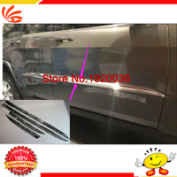 Car Styling Chrome Body Side Door Trim Molding Exterior Cover For Grand Cherokee 2014 Door Side