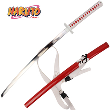 Japanese samurai Omoi Sword Uzumaki Naruto Anime Samurai katana swords carbon steel blade with red Saya Decorative Supply Prop цена