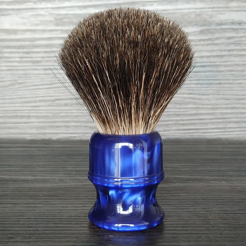 Dscosmetic 26mm Black Badger Hair Knots Shaving Brush Ocean Blue Handle