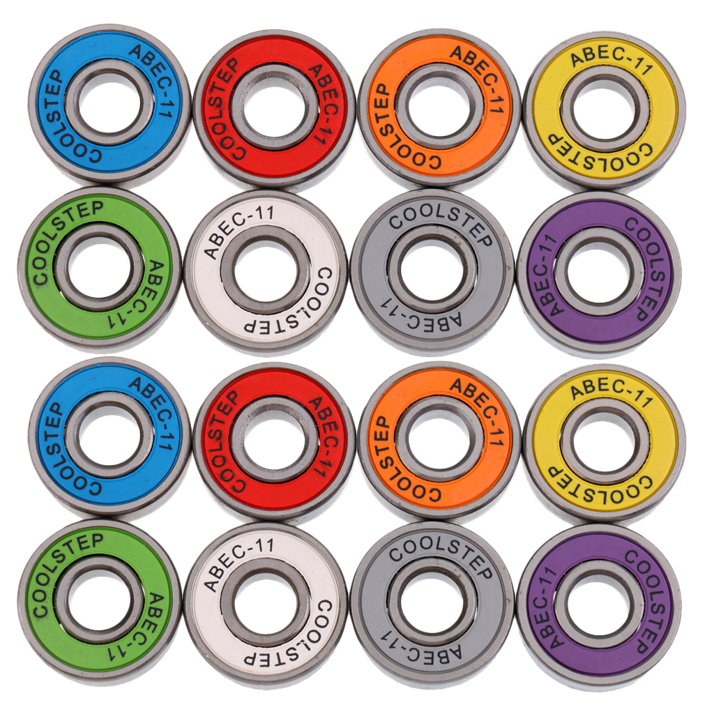16Pcs ABEC 11 High Speed Wearproof Wear Resistant Skateboard Stunt Scooter Inline Bearings Accessories Replacement