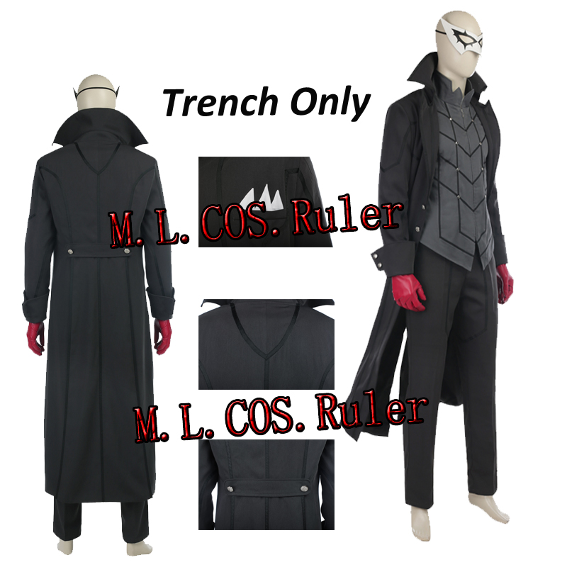 Anime Persona 5 Joker Kaitou Cosplay Costume Trench Coat Only All Size Halloween Custom Made Free Shipping