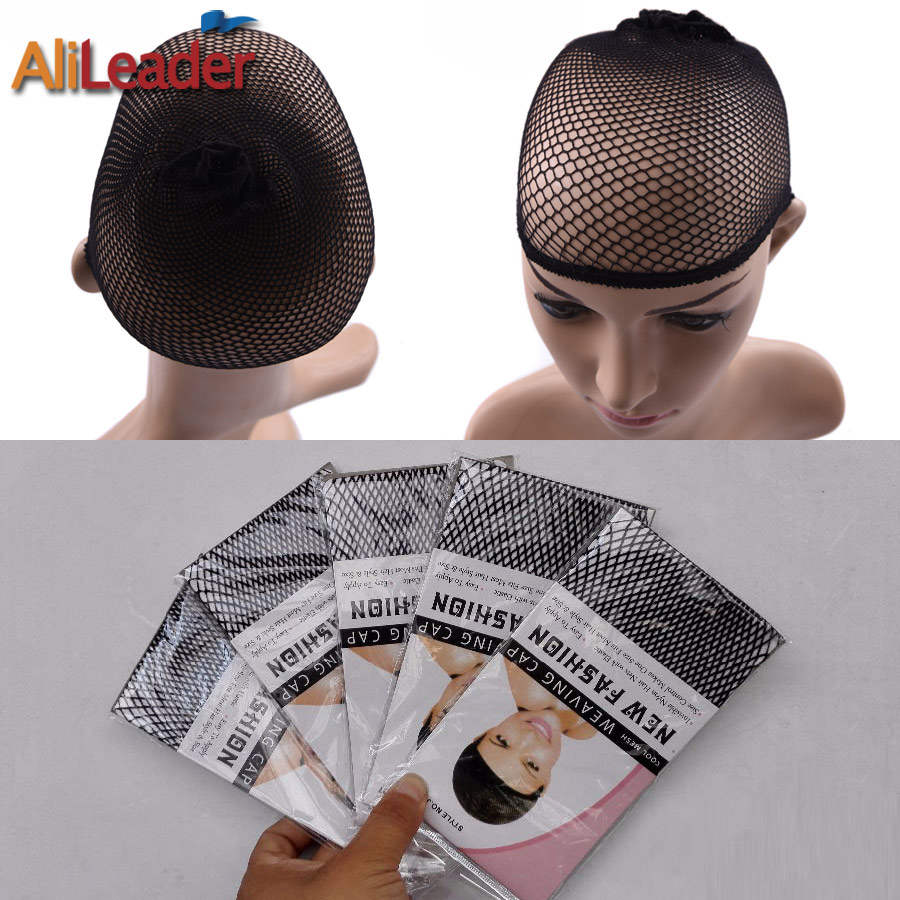 Alileader Beauty Wish Wig 1Pcs-5Pcs New Stretchable Elastic Hair Nets Snood Wig Cap Cool Mesh Cosplay Black Color FishHairnet