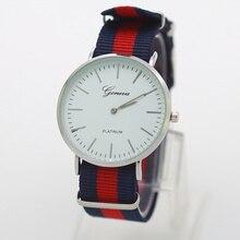 Cassic Brand Geneva Relojes hombre Casual Quartz watch men Nylon strap Dress watches relogio feminino women watch Dropshipping