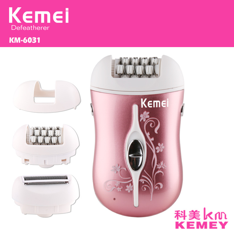 Mini <font><b>3</b></font> <font><b>In</b></font> <font><b>1</b></font> Electric <font><b>Epilator</b></font> Multi-functional Machine For Depilation & Feet Care & Shaving Female Body Hair Cutting Machine image