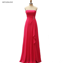Real Photos New Arrival Long Evening Dresses 2019 Fuchsia Chiffon Formal Party Gown Custom Made Plus Size robe de soiree