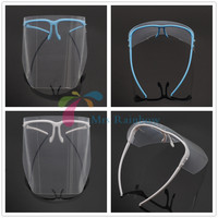 2x Dental Adjustable Full Face Shield CLEAR Detachable Visor Anti Fog