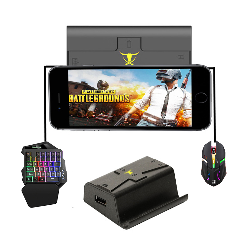 Converter Adapter PUBG Mobile Gamepad Controller Gaming Mouse Keyboard For Android IOS Phone To PC Remote Console BattleDock