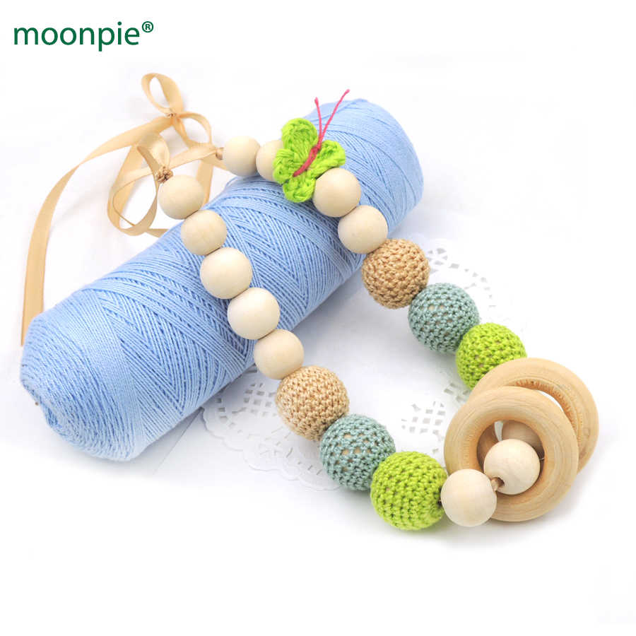 Special new mom gift 2 colors Mint green crochet  Butterfly Nursing Necklace baby chew Breastfeeding Teething  Necklace EN61