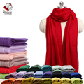 Ultra Thin Nepalese 100% Cashmere/Pasmina Solid Color Red Scarf Shawl Muffler Soft Comfortable Factory Bulk Wholesale