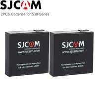 SJCAM SJ8 Pro Battery 2 pièces 1200mAh Batteries Li-ion Rechargeables pour SJ Cam SJ8 Plus Caméra D'action pour SJ8 Air Sport Caméra