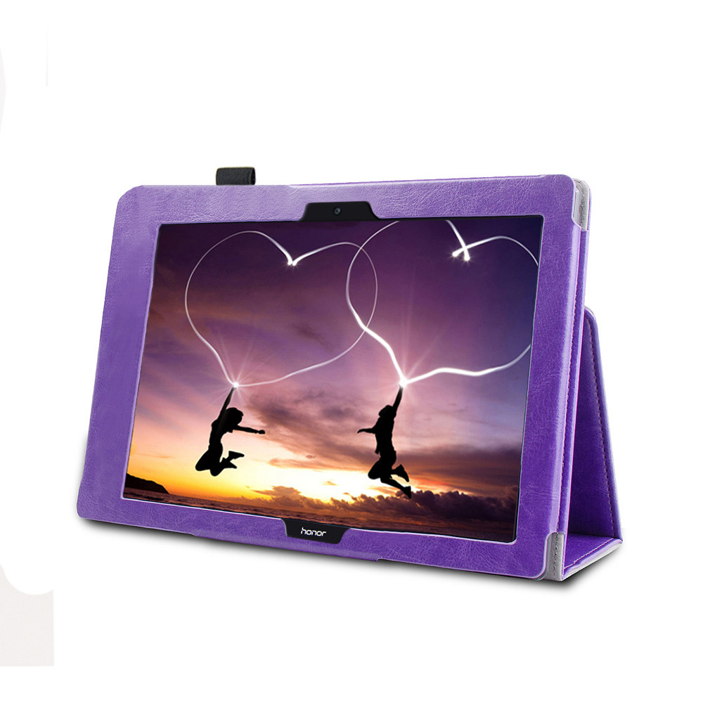 Artificial Leather Multi Angle For View Leather Folding Stand Painted Case Cover For Huawei Mediapad T3 10Inch
