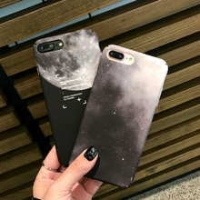 Phone Cases for iphone 6 6s Fashion Moon Space Black Starry sky Back Cover For iPhone 7 8 Plus X XS XR Hard PC phone case cover