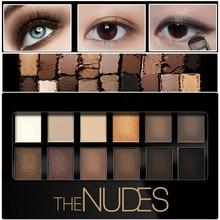 12 színek szemhéjárnyaló gyöngy tartós kozmetikumok Eyeshadow Pallete Make Up Dark Lines