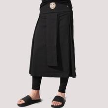 Avant Garde cintura ajustable para hombre Casual Falda pantalón leopardo  cabeza decoración Punk hip-hop hombre de moda Pantalone. edfcc31964cf