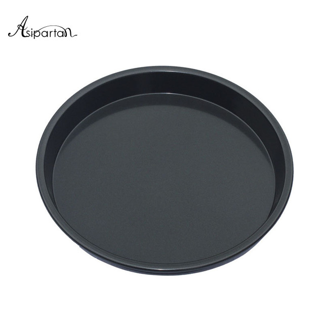 Asipartan 1pc Round Pizza Pan 8 Inch Non Stick Baking Plate Dish Tray